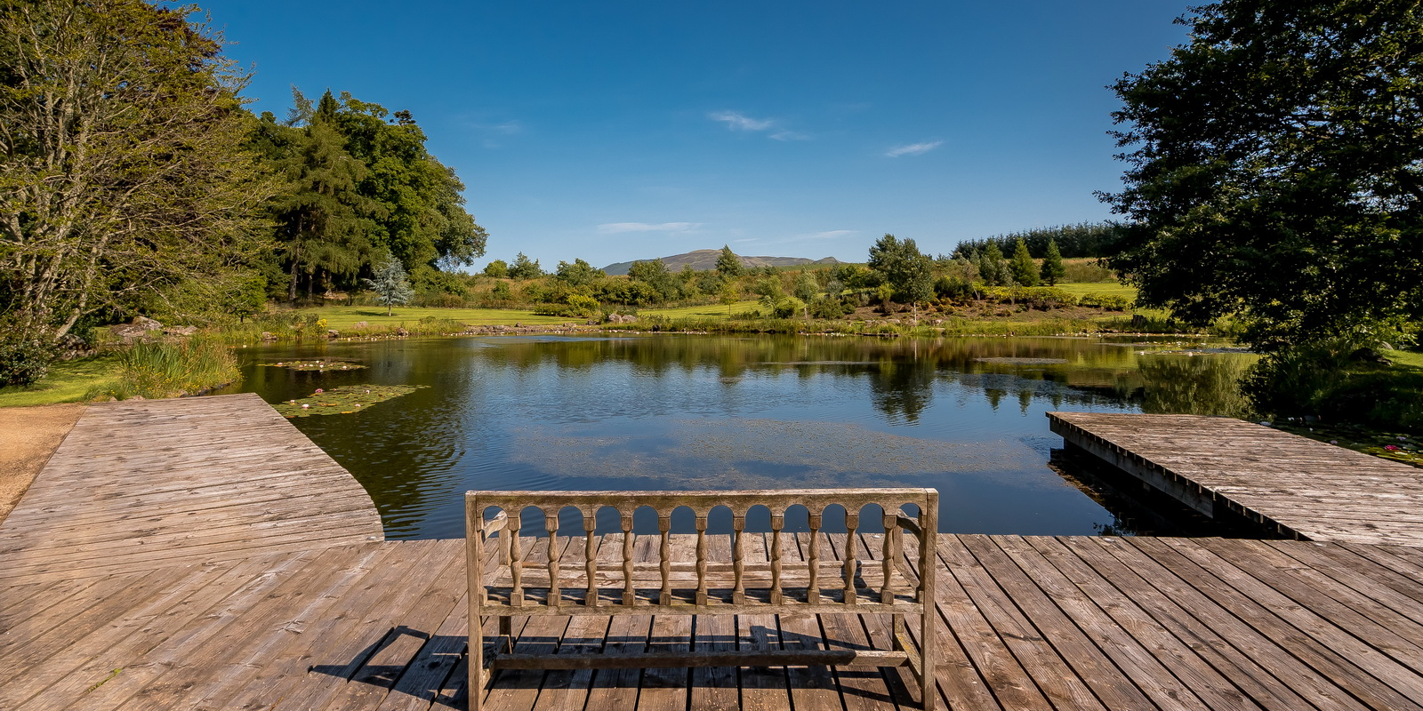 View over the lochan from Auchterarder House