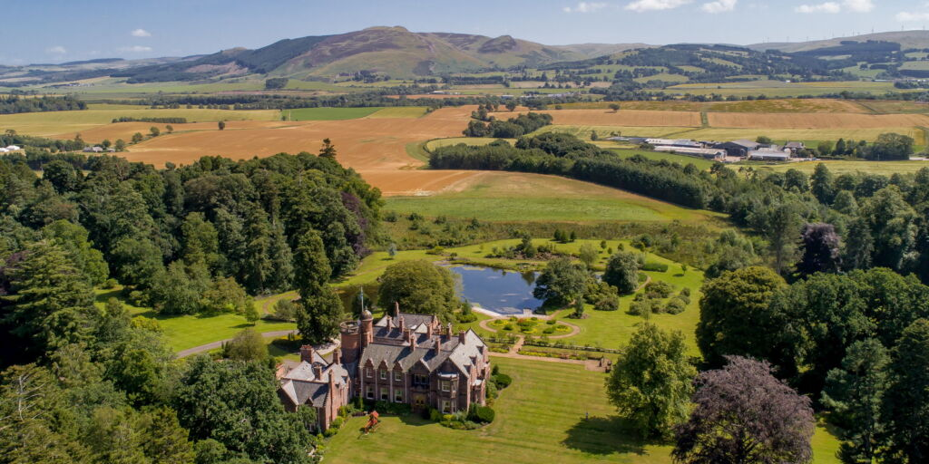 Auchterarder House and the view over the hills