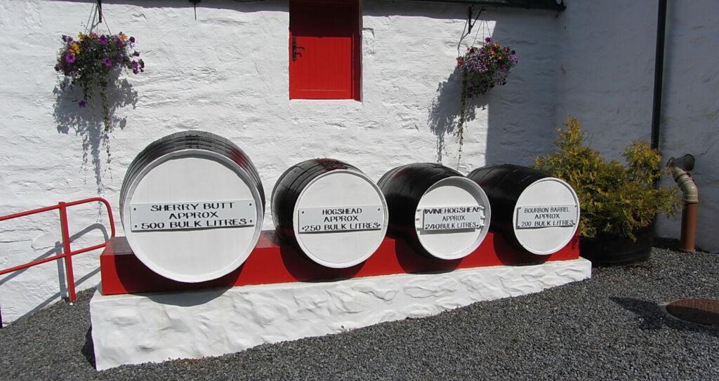 Edradour Distillery barrells